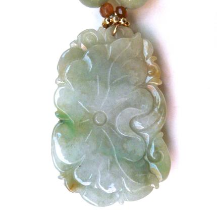 C3871 -3  jade dragon, jade necklace