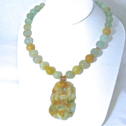 C3871 -4  jade dragon, jade necklace
