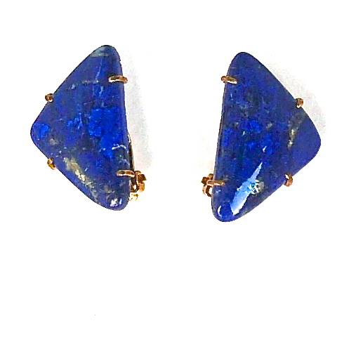 CE5038 1 Lapis fench clip earring